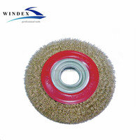 Abrasive Tools circular Brass Wire brush 75mm,100mm,125mm,150mm,175mm,200mm,250mm,300mm