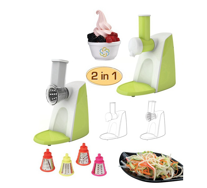 2 in 1 multifunction salad maker, salad shooter