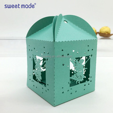 New Arrival:Laser cut white love angel wedding favors candy boxes
