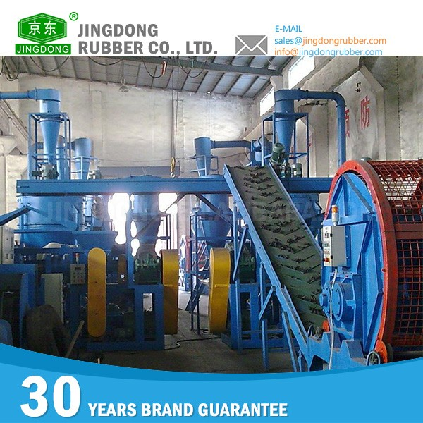 Extended Resistance To Oil used tire recycling rubber powder production line