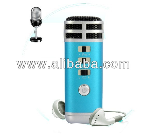 Mini Pocket Karaoke Player with Microphones ,Computer Accessories for ipad/ iphone/ipod.