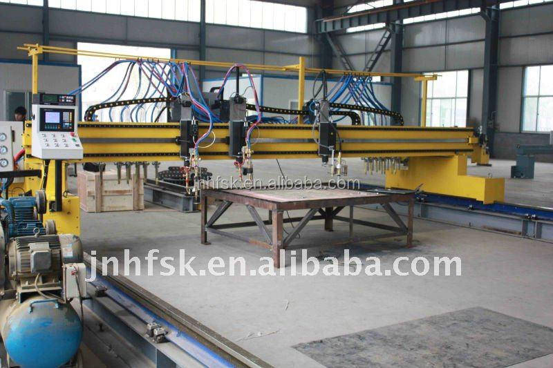 Fire Gas Flame Cutting Gantry CNC Plasma and Flame Cutting Machine / Cutter
