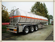 Popular used 3 Axles 4 Compartiments Carbon Steel Oil Tank semi trailer for sale/ Fuel tanker