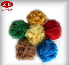 recycled polyester fiber staple synthetic fiber produce
