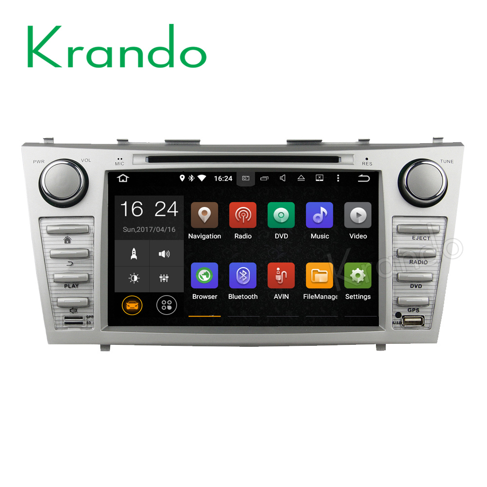 "Krando Android 6.0 8"" car pc dvd player for toyota camry 2007-2011 multimedia gps android navigation system 2G+16G KD-TC811"