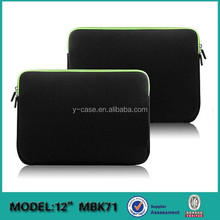 New arrival Neoprene laptop computer bag for Macbook 12' A1534 ,laptop case for Macbook ,Laptop sleeve for Macbook