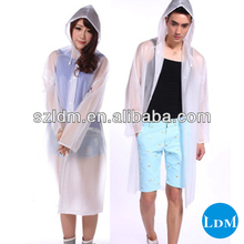 0.08mm pvc fashionable rain hood