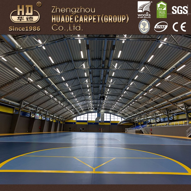 Promotional top quality vinyl basketball court floor