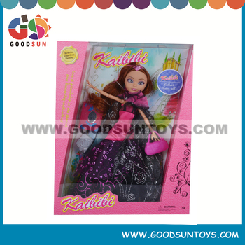 11 Inch Plastic Dolls Custom Fashion Pretty Lifelike Happy Girl Doll