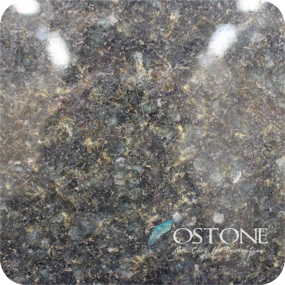 Polished Surface Finishing Verde Ubatuba Granite Slab Prices Per Square Foot