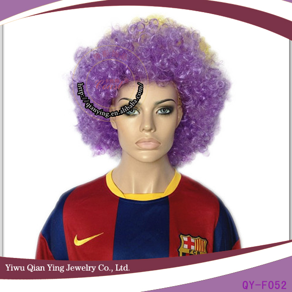 muti color cute sports synthetic fans football wig cheap
