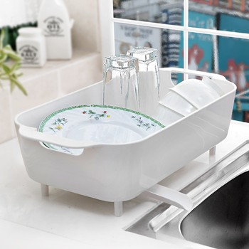Multifunctional Kitchen Plastic Storage Sink Dish Drying Rack 4 Colors