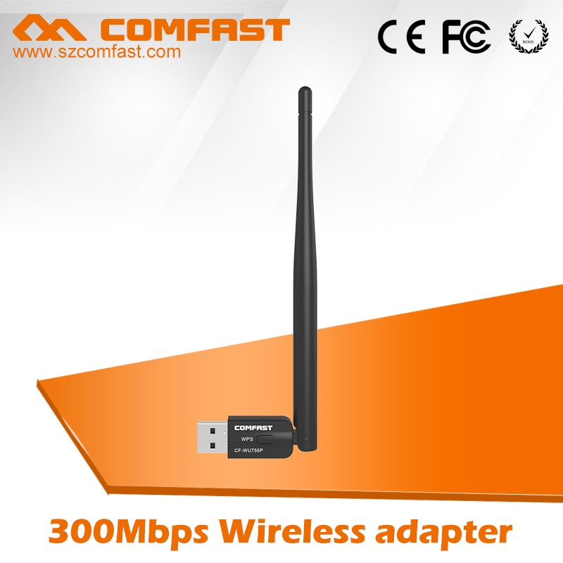 China Wholesale COMFAST CF-WU756P 300Mbps External 5dBi 802.11n USB Mini Wireless LAN Adapter For Window