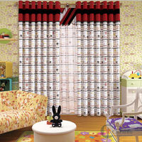 cartoon window curtain / kids curtains/ modern window curtain