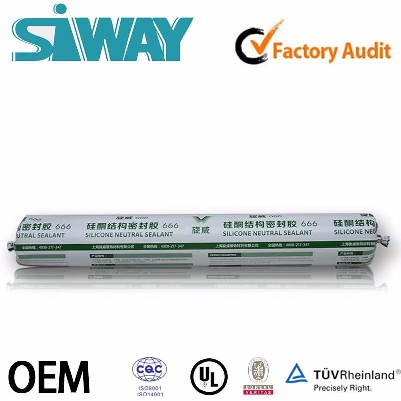 OEM price gp general purpose waterproof structural acetoxy adhesive duct silicone sealant for stainless steel marble stone glass