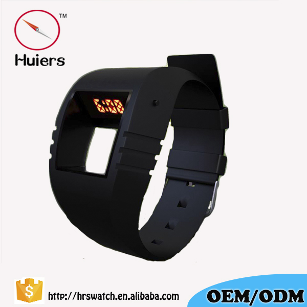Free Samples Silicone Square Men Digital Wrist Watch Sport Watch