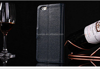 Hot! New! Mobile Real Animal Leather Luxury Cowhide Case for iphone 6 plus case flip wallet factory price