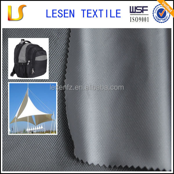 Lesen durable 100% polyester waterproof canvas fabric wholesale