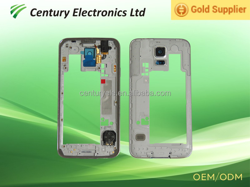 New brand Middle Frame Mid Frame Plate Bezel Housing Replacement for Samsung Galaxy S5 i9600 SM-G900F G900H G900T G900P