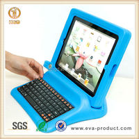 anti shock EVA foam bluetooth keyboard for ipad 2 3 4 case
