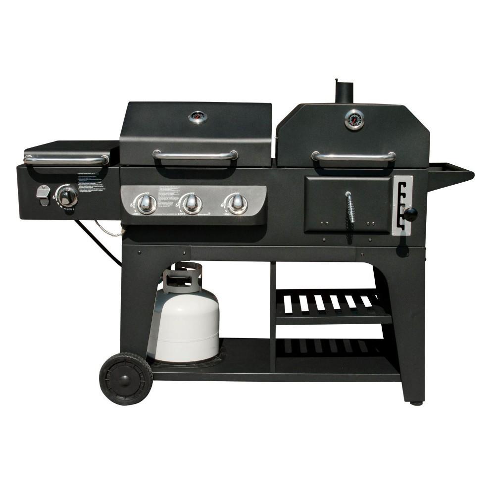 Charbon de gaz combo combinaison hybird barbecue barbecue grills avec br leur - Barbecue infrarouge gaz ...