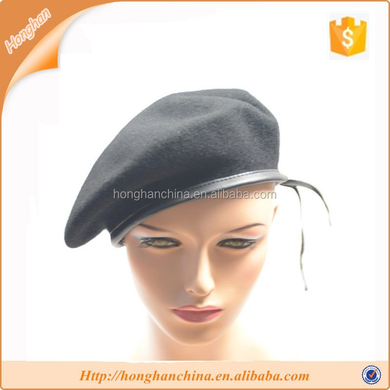 Men knitted beret military hat