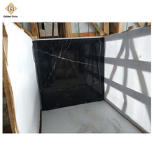 China polished black with white stripe marble for flooring