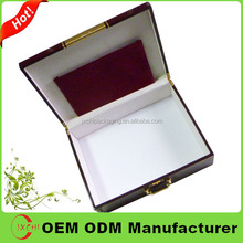 metal portable wooden Packaging With Customized Logo for cosmetic