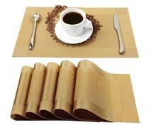 Wholesale price dining mat PVC Fabric silicone placemat table mat