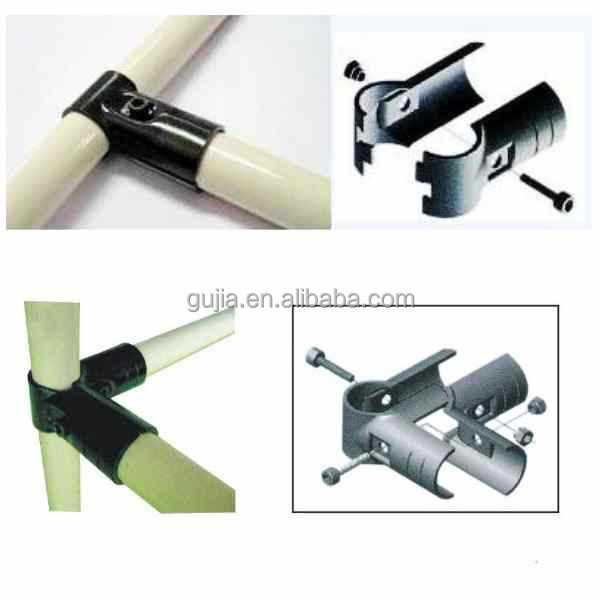 plastic coated pipe/tube metal joint/clamp/connector