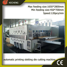automatic 4 color corrugated carton box flexo printing and die cutting machine