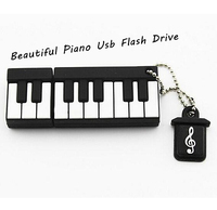 Cute Piano Shape 4g USB Flash Drive 8g Usb disk 16g USB 2.0 pen drive 32g Memory Stick pendrive U Disk