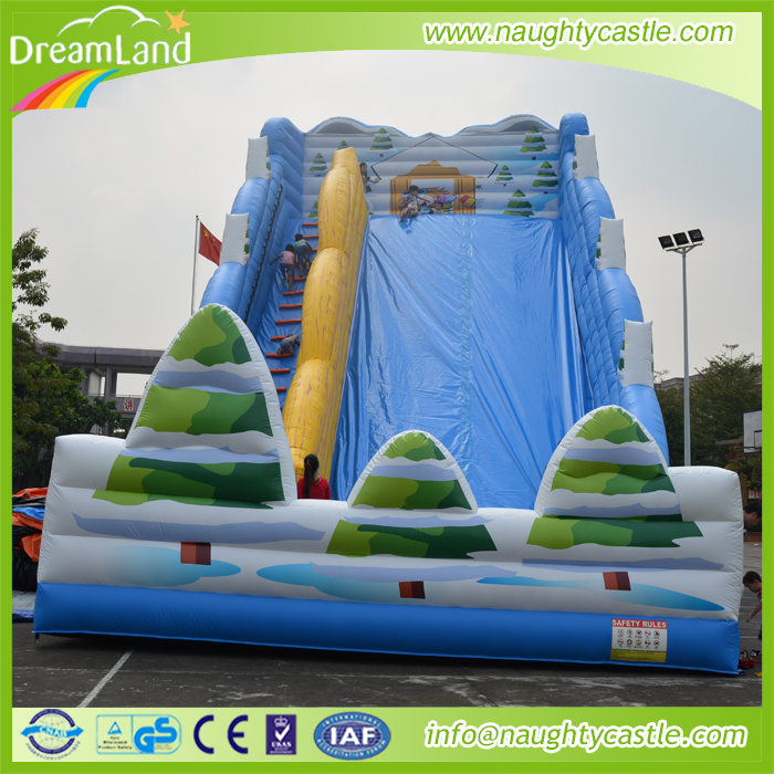 Giant inflatable jumping castle slide for sale/ giant inflatable adult jump slide/ large outdoor slide