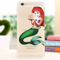 Custom Cartoon characters phone case for iphone 6/6S Mermaid PC hard phone case for iphone 6 6S 4.7''