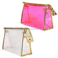 Women pvc transparent cosmetic bag & cases