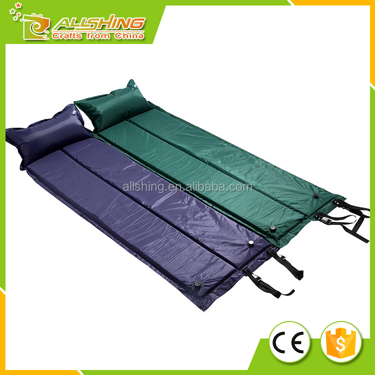 Wholesale outdoor Camping Self Inflating Sleeping Pad, Summer Ultralight Inflatable Sleeping Mats Pad with pillow.