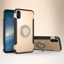 2018 New Creative 360 Degree Rotation Ring Holder Hybrid PC Hard Mobile Case Covers For iPhone X, For iPhone X case