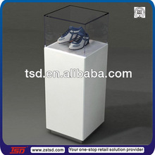 TSD-W299 custom shoe display case/glass shoe display stand/shoe showcase