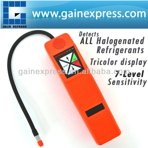 Automatic Microcomputer processor control Tactile Keypad Halogen Gas Leak Analyzers Detector R134a, R12, R22