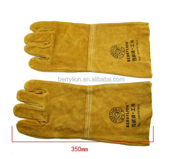 Best selling strong leather welding glove protecting from heat