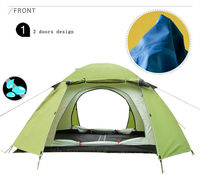 Waterproof Portable Double Layer Couple Camping Tent with Hall