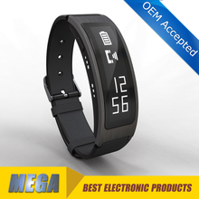The fist one curved screen 1.8inch OLED blood pressure Smart bracelet heart rate smart phone call bracelet MG-B3+