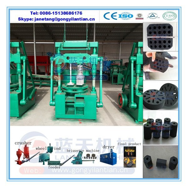 HIgh quality honeycomb coal press making machine carbon black briquette machine