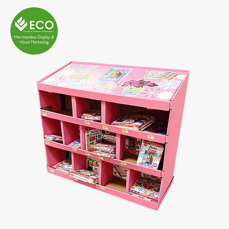 2017 Pink Color Printing Creative Cardboard Pdq Nut Pallet Display