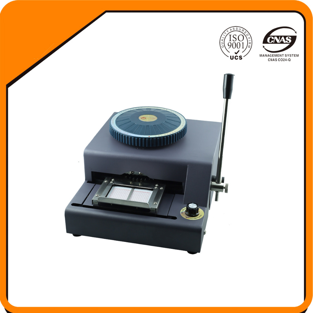 72 chracters2 in1combo embosser and indenter machine for plastic card