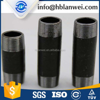 Sch40 Black and Galvanized Seamless Carbon Steel Pipe Nipple
