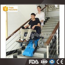 Medical&homecare economic folding steel wheel chair with commode for elderly 4619