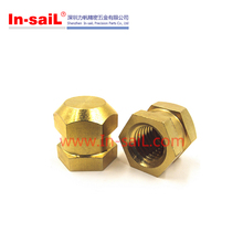 In-saiL DZ RoHS knurled brass mould-in blind threaded inserts for plastics manufacturer