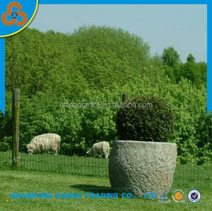 Garden decoration granite flower pot