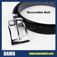 Wenzhou Factory Reversible Belt Buckle Formal Man's Belt with changeable Buckle (P518)